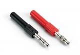 Adapter berührgeschützte 4 mm Buchse auf 4 mm Stecker, in Schwarz oder Rot