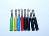 Bananenstecker Adapter-Set 8 Stück berührgeschützte 4 mm Buchse auf 4 mm Stecker