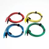 PP718 Set von 4 farbigen Kfz Premium Testleitungen 3 m