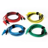 PP941 Set von 4 farbigen Kfz Premium Testleitungen 5 m