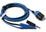 TA404 PicoBNC+™ 3 m Messleitung. Stecker 4 mm blau
