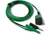TA406 PicoBNC+ 3 m Messleitung, permanent Masse, 4 mm grün